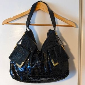Michael Kors Beverly patent crocodile leather